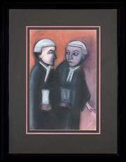 Sale 8459 - Lot 557 - Robert Dickerson (1924 - 2015) - Final Judgement 55 x 36.5cm