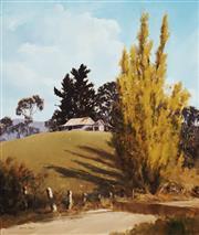 Sale 8583 - Lot 574 - Kevin Best (1932 - 2012) - Autumn at Braidwood 59.5 x 49.5cm