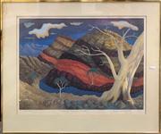 Sale 8663 - Lot 2124 - Ian Graham - The Gorge, Flinders Ranges, 1979 42.5 x 58.5cm