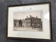 Sale 9045 - Lot 2070 - Austin Platt Framed Etching Sydney Grammar School 1945 (66/100) (Frame Size 41cm x 32cm)