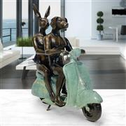 Sale 9042A - Lot 5045 - Gillie and Marc - They Were The Authentic Vespa Riders in Rome 23 x 9 x 21 cm