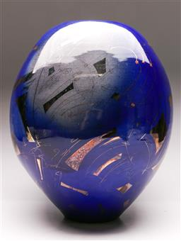Sale 9122 - Lot 99 - Greg Daly Studio Pottery Vase (H:40cm)