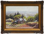 Sale 8316 - Lot 586 - John Rowell (1894 - 1973) - Farm Cottage 17 x 24cm