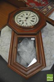 Sale 8390 - Lot 1031 - Seth Thomas Walnut Drop-Case Pendulum Wall Clock with Sweeping Calendar