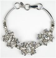 Sale 8477A - Lot 60 - A WHITE CRYSTAL AND BEAD STATEMENT PIECE: length 21cm