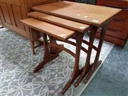 Sale 8476 - Lot 1084 - G-Plan Teak Nest of Three Tables