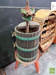 Sale 8554 - Lot 1041 - Vintage Grape Press