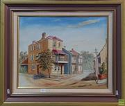 Sale 8600 - Lot 2093 - S. Middleton Corner House, oil on canvas board, 39.5 x 49.5cm, signed lower left