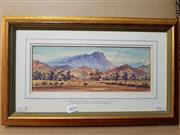 Sale 8671 - Lot 2014 - Keith Palmer - Hayward Bluff, Aroona Valley SA,1980, watercolour, 27.5 x 45.5cm, signed and dated lower right