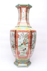 Sale 8706 - Lot 32 - Animal Themed Chinese Vase Signed To Base