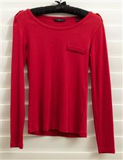 Sale 8902H - Lot 172 - A Henri Lloyd red long sleeved top with gold buttons to shoulder epaulettes, size XS