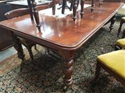 Sale 8917 - Lot 1060 - Victorian Mahogany Extension Dining Table, with three leaves & turned legs (winder in office)