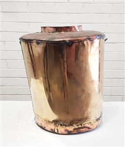 Sale 9137 - Lot 1093 - Large brass and copper water carrier