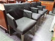 Sale 8451 - Lot 1032 - Set of 4 B & B Italia Dining Chairs