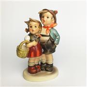 Sale 8456B - Lot 12 - Hummel Figure of a Boy & Girl with Basket