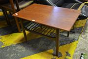 Sale 8528 - Lot 1077 - Good Koford Larsen G-Plan Teak Coffee Table with Magazine Shelf