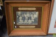 Sale 8569 - Lot 2071 - Early Photo of St Pauls Soccer FC Rozelle 1913 in Oak Frame