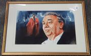 Sale 9041 - Lot 2062 - Allen Wait - Dimingo, Watercolour, SLR, 35.5x53cm -
