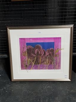 Sale 9127 - Lot 2042 - T Braitling Dusk at Devils Marbles, NT monoprint ed. AP , 50 x 55cm, signed -