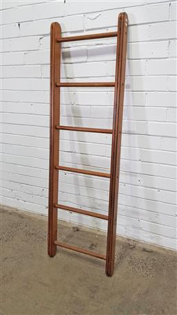 Sale 9157 - Lot 1064 - Rustic timber library ladder