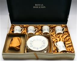 Sale 9173 - Lot 34 - A boxed Royal Doulton coffee suite for six