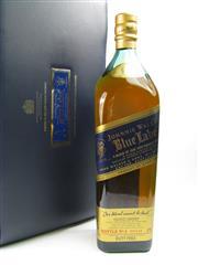 Sale 8290 - Lot 478 - 1x Johnnie Walker Blue Label Blended Scotch Whisky - 1750ml bottle in leather presentation case