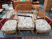 Sale 8476 - Lot 1088 - A Good Ercol Four Piece Sitting Room Suite