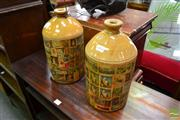 Sale 8489 - Lot 1054 - Pair of Fowler Demijohns