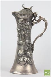 Sale 8521 - Lot 102 - Flavelle Ewer with Floral Motif (H 21cm)