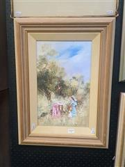 Sale 8650 - Lot 2005 - Anita Newman - Golden Days 39.5 x 24cm