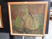 Sale 8671 - Lot 2026 - Artist Unknown Green Bottles, oil on board, 44 x 47cm,