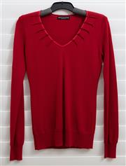 Sale 8902H - Lot 164 - A Decisions, New Zealand red V-neck sweater in soft wool, size S