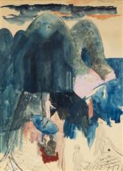 Sale 9067 - Lot 545 - Justin OBrien (1917 - 1996) - Untitled, 1947 49.5 x 35.5 (frame: 65 x 51 x 3 cm)
