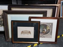 Sale 9127 - Lot 2089 - a good selection of 12 engravings and offset prints after original engravings, various condition issues -