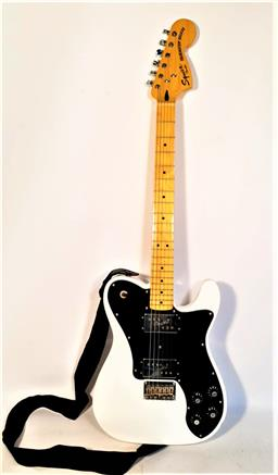 Sale 9136 - Lot 2 - Fender Squier Telecaster Deluxe (serial no. ICS15194797) in Epiphone Soft Case and lead