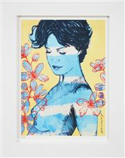 Sale 8309A - Lot 48 - David Bromley (1960 - ) - Charlotte with Flowers 29 x 21.5cm