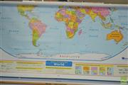 Sale 8338 - Lot 1013 - Wall Mounted American Educational Maps of North America & The World