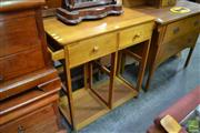 Sale 8489 - Lot 1066 - Timber Dropside Kitchen Island on Castors