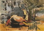 Sale 8633 - Lot 584 - Carl Plate (1909 - 1977) - Horse on the Ground (Study), 1957 27.5 x 38cm