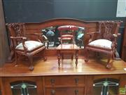 Sale 8648C - Lot 1011 - Pair of Carved Timber Apprentice Chairs & Another (3)