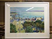 Sale 8754 - Lot 2044 - Brian Kewley (1933 - ) The Bay, 1997 decorative print, 70 x 86cm (frame size) -