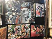 Sale 8853 - Lot 2041 - Group of (4) Abstract Paintings by David Whitworth
