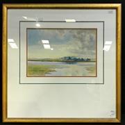 Sale 8936 - Lot 2012 - Artist Unknown Low Tide on River Alde watercolour, 23.5 x 34.5cm (60 x 60cm frame) signed -