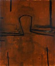 Sale 8992 - Lot 523 - Graham Fransella (1950 - ) - Head on Clay, 1998 122 x 103 cm (total: 122 x 103 x 3 cm)