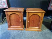 Sale 9026 - Lot 1026 - Pair of Timber Bedsides