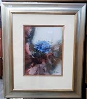 Sale 9061 - Lot 2002 - Jeanette Dykman, Hydrangeas, watercolour, frame: 82 x 70 cm, signed lower right -