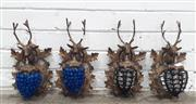 Sale 9071 - Lot 1006 - Two Pairs of Stag Themed Wall Sconces (h:33 x d:19cm)