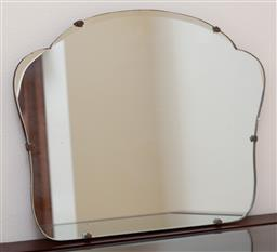 Sale 9155H - Lot 31 - A vintage wall hanging mirror. Width 44cm