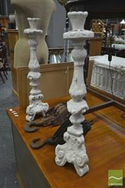 Sale 8289 - Lot 1055 - Pair of Candle Stick Holders