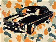 Sale 8325 - Lot 534 - Roderick Bunter (1970 - ) - Love Removal Machine...(Burning Rubber), 2003 91 x 122cm